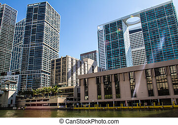 Downtown of Miami - Buildings in Miami Downtown, United...