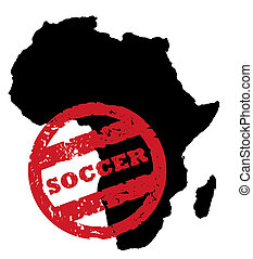 South African Soccer stamp