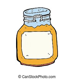 comic cartoon marmalade preserve - retro comic book style...