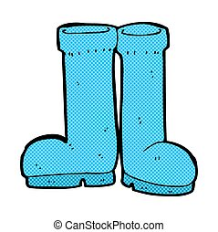 comic cartoon rubber boots - retro comic book style cartoon...