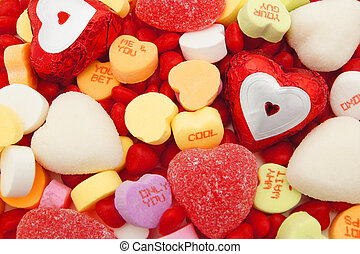 Valentines Day candy background - Valentines Day background...