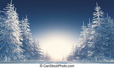 winter scenery - image of winter scenery