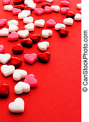 Valentines Day candy background - Colorful Valentines Day...