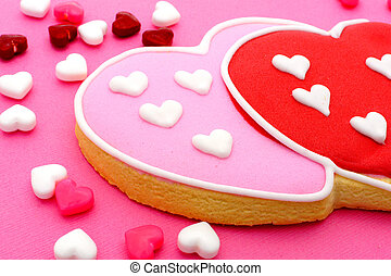 Valentines Day cookies - Heart shaped Valentines Day cookies...