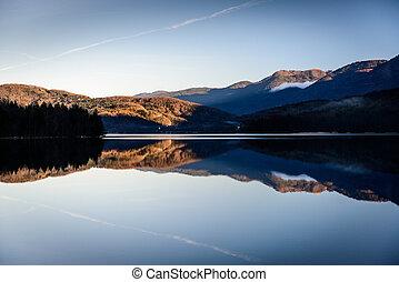Bohinj lake - Bohinj Lake at sunset ,Triglav National...