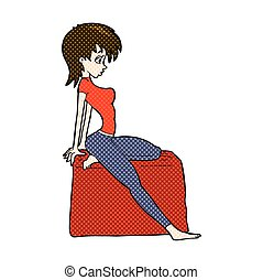 comic cartoon pin up pose girl
