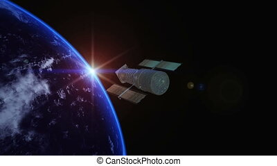man-made satellite - earth and man-made satellite