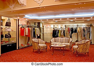boutique - Interior of a fashionable boutique