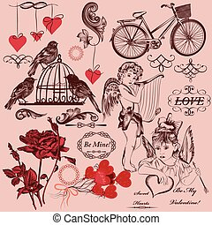 Collection of vintage decorative Va - Collection of...