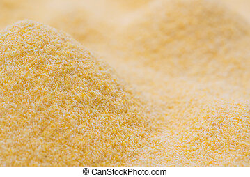 Cornmeal Background as high res detailed close-up shot