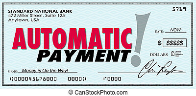 Automatic Payment Money Check Sent Software Program System -...