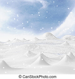 Snowy Mountain. - 3d rendering background snowy mountains.