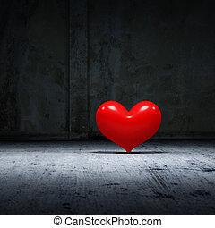 corazón, de, Darkness.,