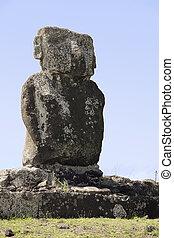 Ahu Ature Huki on Easter Island