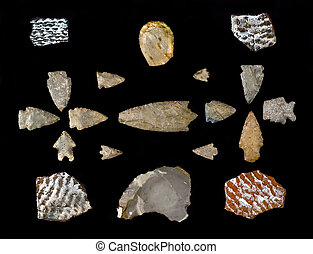 Texas Arrowheads and Pottery Sherds. - Texas arrowheads and...
