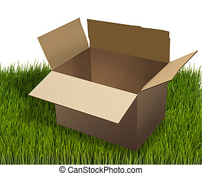 Moving Box. - Empty cardbord moving box.