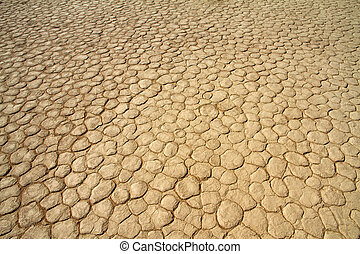 Dry cracked mud in the Sossusvlei desert, Namibia