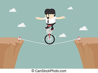 Business balancing on the rope