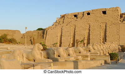 ancient karnak temple in Luxor, Egypt