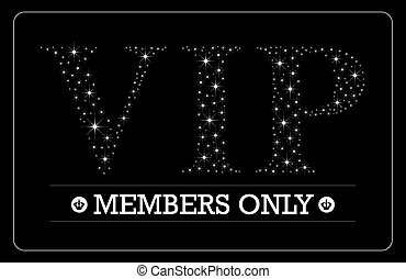 VIP Members only card design - VIP Members only card VIP...