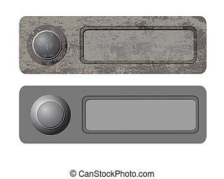 vector doorbells - Vector illustration of the doorbells