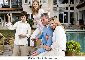 Family having fun - Portrait of carefree family, kids...