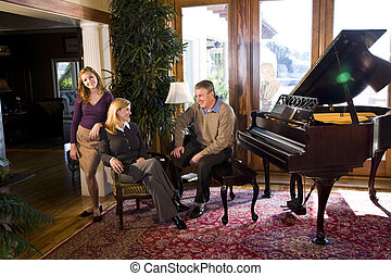Family with piano