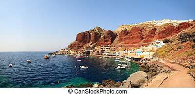 Santorini - Spectacular caldera surrounding the beautiful...