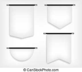 Flag banner different shapes illustration