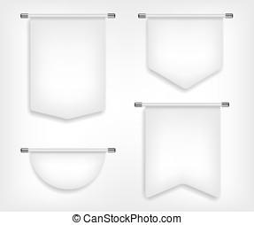 Flag white banner different shapes illustration