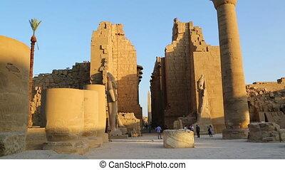 ancient karnak temple in Luxor, Egypt
