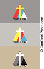 Trinity church logo, art vector design
