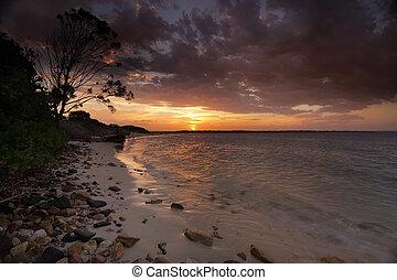 Sunset Botany Bay Sydney