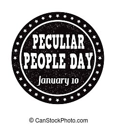 Peculiar people day stamp