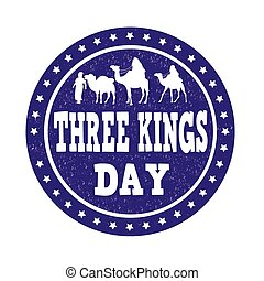 Three Kings Day stamp
