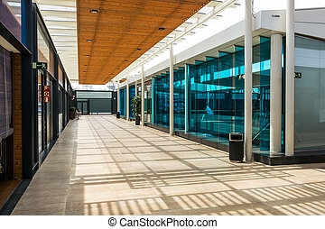 Shoping center - Architecture view of a new shoping center.