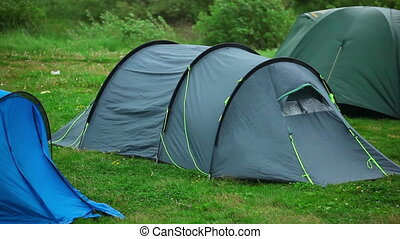 Travel tent - protection from wind and rain.