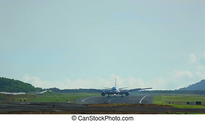 Taxiing - Boeing 777 taxiing on the runway, International...