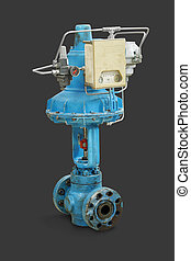 Pneumatic valve - Old pneumatic valve Close-up isolated on...