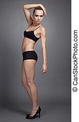 beautiful model in lingerie