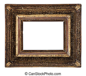 antique old picture frame wooden