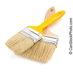 paintbrush on white background - paintbrush isolated on...