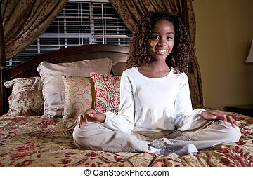 10 year old girl - Cute 10 year old African American girl...