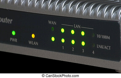 Router Control Panel - Ethernet 10100 Mbps WiFi router...