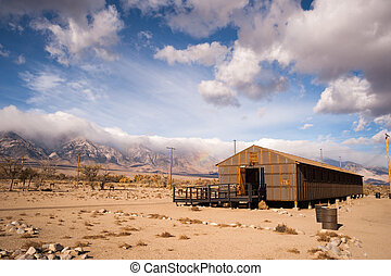 Barracks Building Manzanar National Historic Site California...