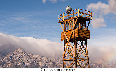 Guard Tower Searchlight Manzanar National Historic Site -...