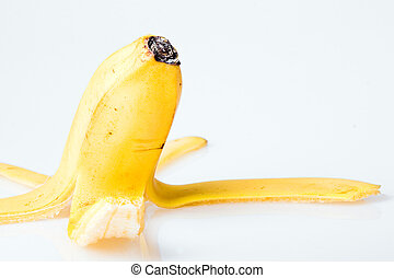 Peel of banana close up