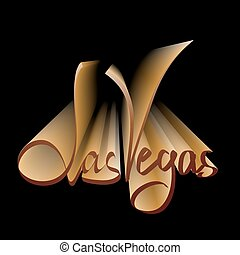 Las Vegas lettering for casino posters. Illustration made in...