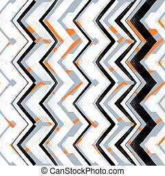 Multicolor hand drawn pattern zigzag - Multicolor hand drawn...