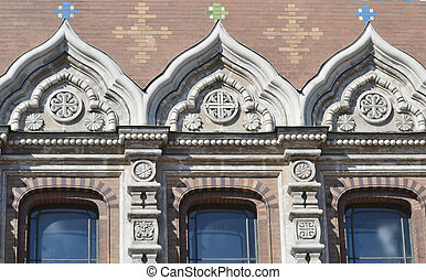 Windows of orthodox cathedral Spas na Krovi - Ornate windows...